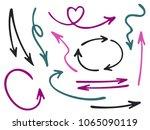 hand drawn diagram arrow icons... | Shutterstock .eps vector #1065090119