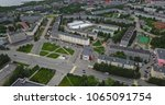 aerial townscape and suburbs of ... | Shutterstock . vector #1065091754