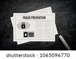 fraud prevention illustration... | Shutterstock . vector #1065096770