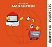 digital marketing business | Shutterstock .eps vector #1065097880