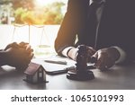 business woman and lawyers... | Shutterstock . vector #1065101993