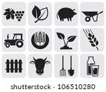 farming icons. | Shutterstock .eps vector #106510280