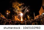 burning of traditional festival ... | Shutterstock . vector #1065102983
