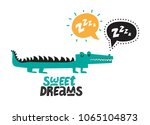 illustration of a crocodile... | Shutterstock .eps vector #1065104873