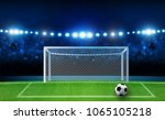 football arena field with... | Shutterstock .eps vector #1065105218