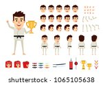 martial arts  karate master... | Shutterstock .eps vector #1065105638