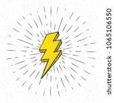 vintage lightning symbol with... | Shutterstock .eps vector #1065106550