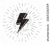 vintage lightning symbol with... | Shutterstock .eps vector #1065106559