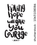 having hope will give you... | Shutterstock . vector #1065108086
