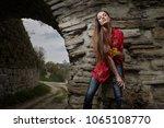 portrait of a beautiful ... | Shutterstock . vector #1065108770