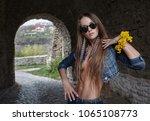 portrait of a beautiful ... | Shutterstock . vector #1065108773