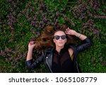 portrait of a girl  model in... | Shutterstock . vector #1065108779