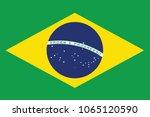 flag of brazil. south america.... | Shutterstock .eps vector #1065120590