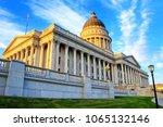 utah state capitol in salt lake ... | Shutterstock . vector #1065132146