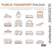 set of public transport icons. | Shutterstock .eps vector #1065132170