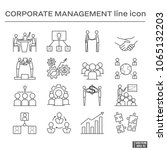 set of corporate management... | Shutterstock .eps vector #1065132203