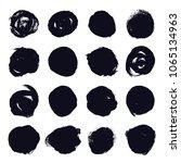 set of hand drawn grunge black... | Shutterstock .eps vector #1065134963