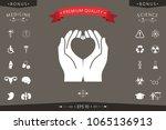 hands holding heart  ...   Shutterstock .eps vector #1065136913