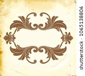 retro baroque decorations... | Shutterstock .eps vector #1065138806
