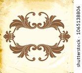 retro baroque decorations... | Shutterstock .eps vector #1065138806