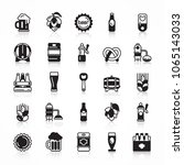 set of beer icons with shadow... | Shutterstock .eps vector #1065143033