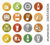 set of beer icons on color... | Shutterstock .eps vector #1065143636