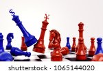 blue chess against  red chess... | Shutterstock . vector #1065144020