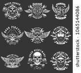 set of biker club emblem... | Shutterstock .eps vector #1065144086