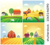 farm agriculture banner rural... | Shutterstock .eps vector #1065146090