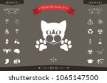 cut cat with paws   logo ... | Shutterstock .eps vector #1065147500