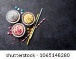 Sweet Cupcakes With Colorful...