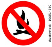 red and black round fire ban... | Shutterstock . vector #106514960