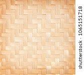 close up woven bamboo pattern...   Shutterstock . vector #1065151718