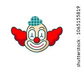 clown head vector icon. fun... | Shutterstock .eps vector #1065155819