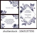 vintage delicate invitation... | Shutterstock .eps vector #1065157550