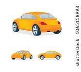 mini car illustration. small... | Shutterstock .eps vector #1065158993