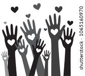 hands and heart donation donor... | Shutterstock .eps vector #1065160970