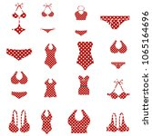 bikini swimsuit collection   Shutterstock .eps vector #1065164696