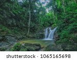 outdoor beauty nature waterfall ... | Shutterstock . vector #1065165698