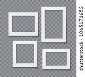 photo frame collection vector...   Shutterstock .eps vector #1065171653
