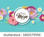 happy mother's day greeting... | Shutterstock .eps vector #1065175550