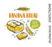 banana bread concept design.... | Shutterstock .eps vector #1065176048