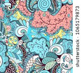 tracery seamless pattern.... | Shutterstock .eps vector #1065179873