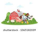 vector cartoon style...   Shutterstock .eps vector #1065182039