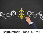 human resource concept on... | Shutterstock . vector #1065183290