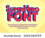 superhero abstract font and... | Shutterstock .eps vector #1065184559