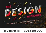 stylish modern abstract italic... | Shutterstock .eps vector #1065185030