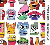 monsters seamless | Shutterstock .eps vector #106518623
