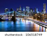 skyline of downtown new york ... | Shutterstock . vector #106518749