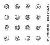 globe  earth or world line icon ... | Shutterstock .eps vector #1065193259
